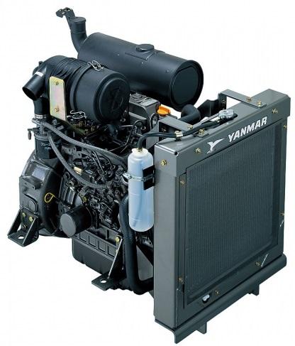 Motor Diesel Yanmar 4TNV98 NSA 2500 RPM 68,9 hp  - GENSETEC GERADORES