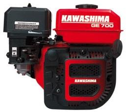 Motor Gasolina Kawashima GE700R 1800 RPM 7hp  - GENSETEC GERADORES