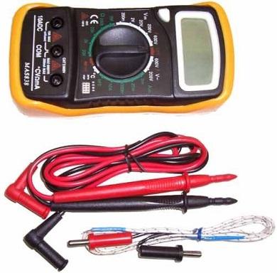 Multímetro com Termômetro MAS838 Lee Tools  - GENSETEC GERADORES