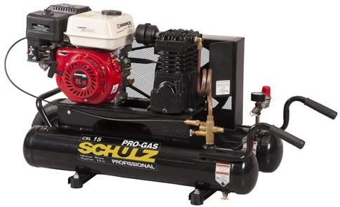 Compressor de Ar a Gasolina Schulz CSL15BRG30L 140lbs  - GENSETEC GERADORES