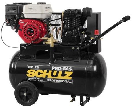 Compressor de Ar a Gasolina Schulz CSL15/80 140lbs  - GENSETEC GERADORES