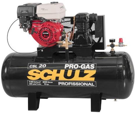 Compressor de Ar a Gasolina Schulz Progas 20/200 140lbs  - GENSETEC GERADORES