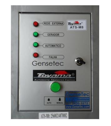 QTA Para Gerador Toyama TDG8000CXE ou TDG8000SLE Monofásico 220V  - GENSETEC GERADORES