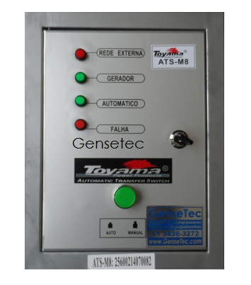 QTA Para Gerador Toyama TDG8000CXE3D ou TDG8000SLE3D Trifásico 220V  - GENSETEC GERADORES
