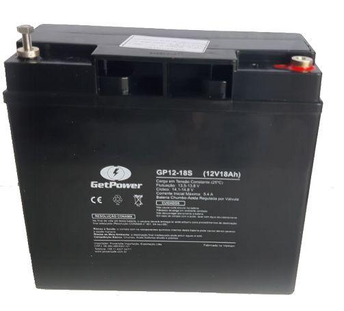 Bateria 12 Volts GetPower 18A GP12-18S  - GENSETEC GERADORES