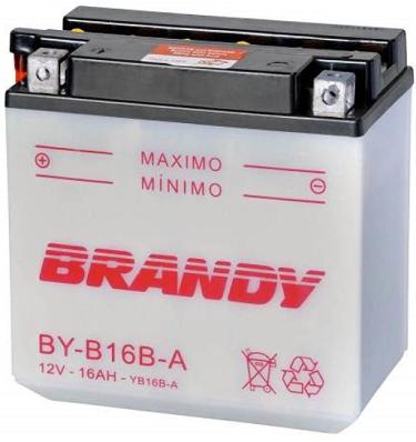 Bateria 12 Volts Brandy 16A BY-B16B-A  - GENSETEC GERADORES