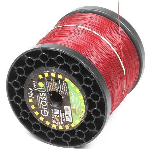 Bobina de Fio de Nylon Para Roçadeira 2,4mm Quadrado 2KG  - GENSETEC GERADORES
