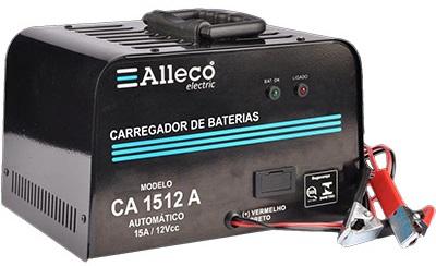 Carregador de Bateria Automático 12V Alleco CA1512A  - GENSETEC GERADORES