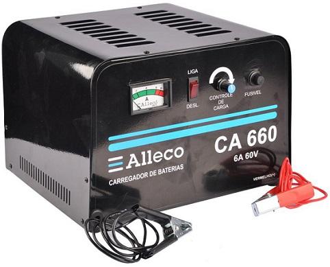 Carregador de Bateria 12 Volts Alleco CA660  - GENSETEC GERADORES
