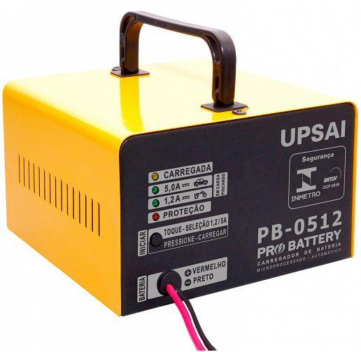 Carregador de Bateria Automático 12V Upsai PB0512  - GENSETEC GERADORES