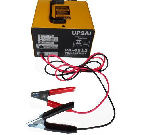 Carregador de Bateria Automático 12V Upsai PB1512  - GENSETEC GERADORES