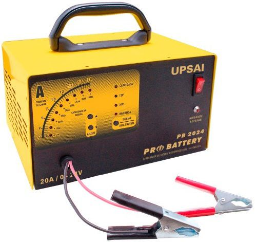 Carregador de Baterias Automático 12 e 24 Volts Upsai PB 2024 Auxiliar de Partida  - GENSETEC GERADORES