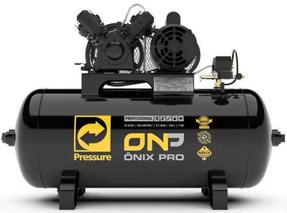 Compressor de Ar Pressure 10Pés Onix Pro 100 Litros 140 Libras Monofásico  - GENSETEC GERADORES