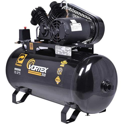 Compressor de Ar Pressure 10Pés Vortex 300 100 Litros 140 Libras Monofásico  - GENSETEC GERADORES