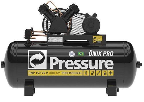 Compressor de Ar Pressure 15 Pés ONP 15 175 Litros 140 Libras Monofásico  - GENSETEC GERADORES