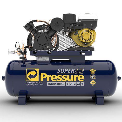 Compressor de Ar Pressure 20 Pes 200 Litros 175 Libras - Sem Motor  - GENSETEC GERADORES