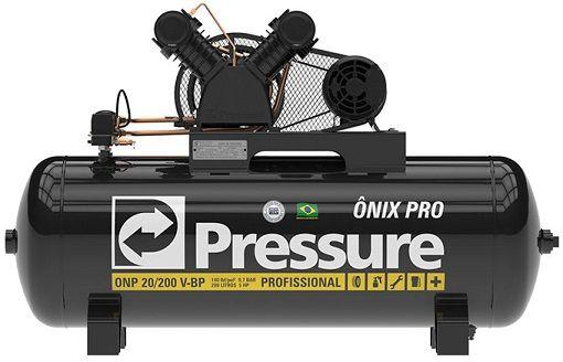 Compressor de Ar Pressure 20 Pés ONP 20 175 Litros 140 Libras Trifásico  - GENSETEC GERADORES