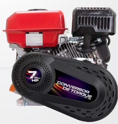 Conversor de Torque CVT com embreagem para motores 5.5hp a 7.5hp  - GENSETEC GERADORES