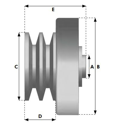 Embreagem Centrífuga para Motores 5.5 hp 6.5 hp e 7hp Mini Buggy  - GENSETEC GERADORES