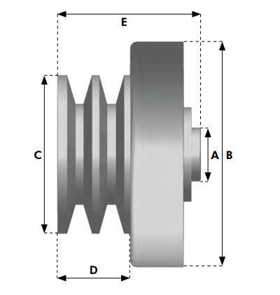 Embreagem Centrífuga para Motores 5.5 hp a 7hp CANAL B  - GENSETEC GERADORES