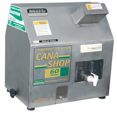 Moenda de Cana Maqtron Cana Shop 60 Hobby Rolo de Inox com Motor 110V  - GENSETEC GERADORES