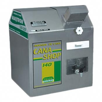 Moenda de Cana Maqtron Cana Shop 140 Rolo de Inox com Motor 110V  - GENSETEC GERADORES