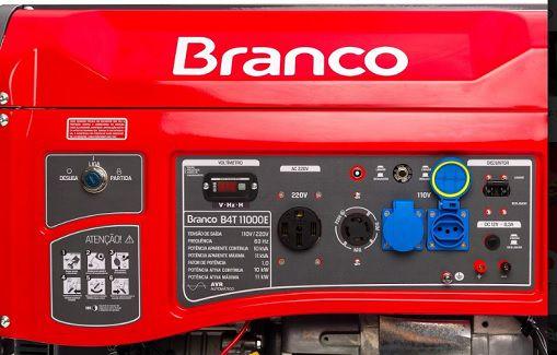 Gerador de Energia Branco B4T 11000E 11kva Monofásico  - GENSETEC GERADORES
