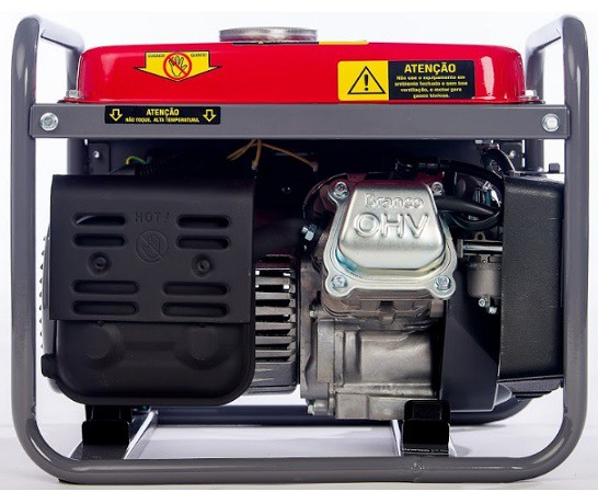 Gerador de Energia Branco B4T 1300 110V 1.3 kva Monofásico  - GENSETEC GERADORES