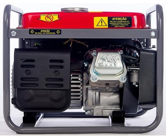 Gerador de Energia Branco B4T 1300 220V 1.3 kva Monofásico  - GENSETEC GERADORES