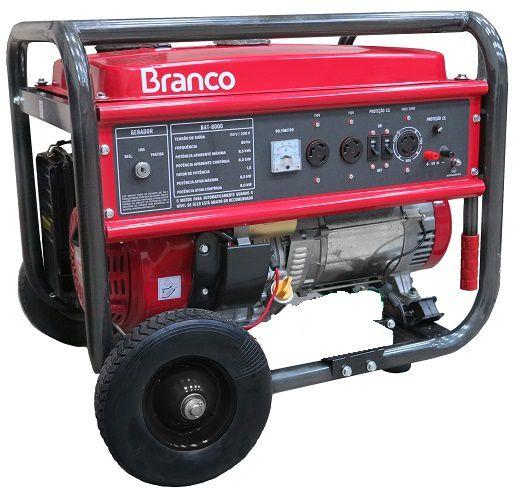 Gerador de Energia Branco B4T 8000E3 TRIF 220V  8 kva Partida Elétrica  - GENSETEC GERADORES