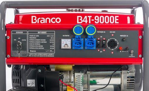 Gerador de Energia Branco B4T 9000E 9 kva Monofásico  - GENSETEC GERADORES