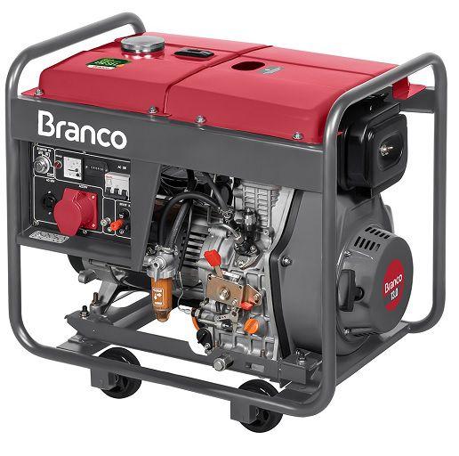 Gerador de Energia Branco BD 8000E3 380V 8 kva Trifásico  - GENSETEC GERADORES