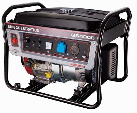Gerador de Energia Briggs and Stratton GS 4000 4 kva Monofásico  - GENSETEC GERADORES