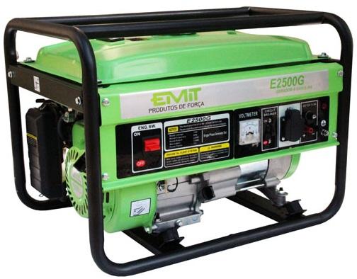 Gerador de Energia Emit E2500G 110V 2.2 kva Monofásico  - GENSETEC GERADORES