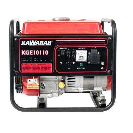Gerador de Energia Kawarah KGE10110 110V 1Kva Monofásico  - GENSETEC GERADORES