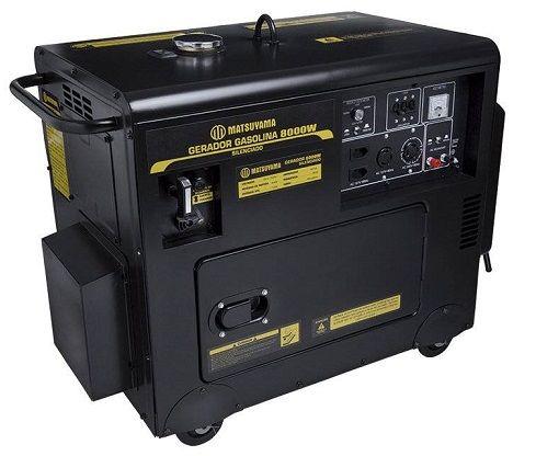 Gerador de Energia Matsuyama 8000 8 kva Monofásico Silenciado   - GENSETEC GERADORES