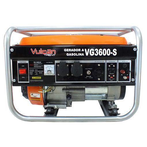 Gerador de Energia Vulcan  VG3600S 3.6 kva  - GENSETEC GERADORES