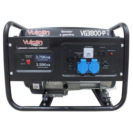 Gerador de Energia Vulcan  VG3800P 3.75 kva  - GENSETEC GERADORES