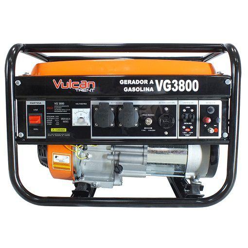 Gerador de Energia Vulcan  VG3800 3 kva  - GENSETEC GERADORES