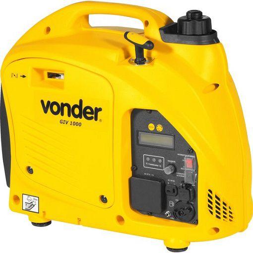 Gerador Inverter Vonder GIV 1000 220V 1kva Portátil Silencioso  - GENSETEC GERADORES