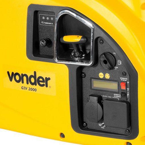 Gerador Inverter Vonder GIV 2000 110V 2kva Portátil Silencioso  - GENSETEC GERADORES