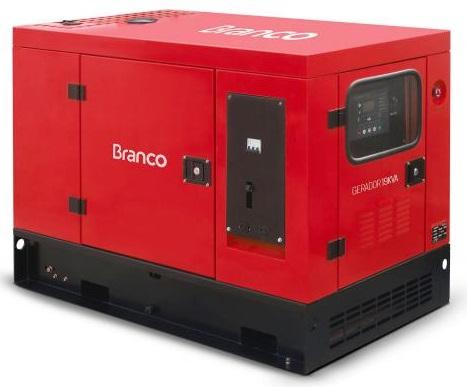 Grupo Gerador de Energia Branco BD 19000 E3S 16 kva Trifásico Automático 220V  - GENSETEC GERADORES