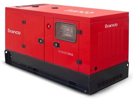 Grupo Gerador de Energia Branco BD 33000 E3S 32 kva Trifásico Automático 220V  - GENSETEC GERADORES