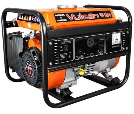 Gerador de Energia Vulcan VG 1100 110V 1.1 kva Monofásico  - GENSETEC GERADORES