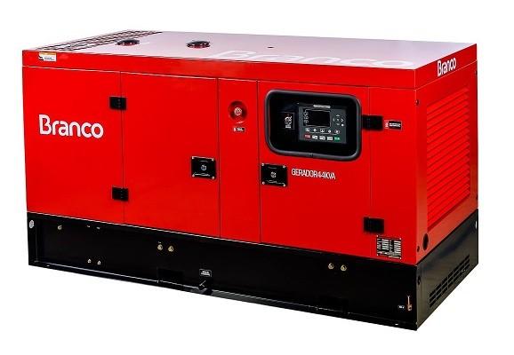 Grupo Gerador de Energia Branco BD 44000 E3S 48 kva Trifásico Automático 220V  - GENSETEC GERADORES