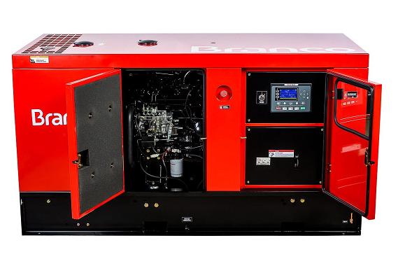 Grupo Gerador de Energia Branco BD 44000 E3S 48 kva Trifásico Automático 380V  - GENSETEC GERADORES
