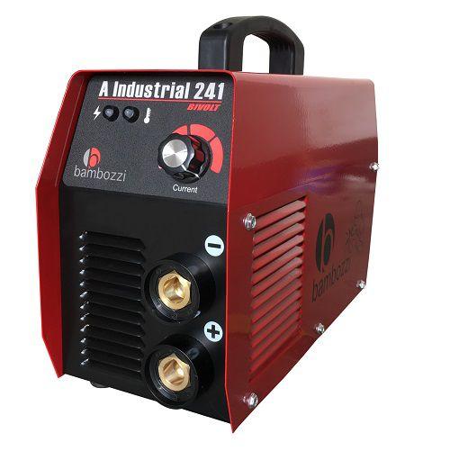 Máquina de Solda Inversora Bambozzi Industrial 241 Bivolt  - GENSETEC GERADORES