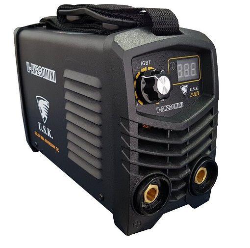Máquina de Solda Inversora Mini V-ak230 USK 220V  - GENSETEC GERADORES