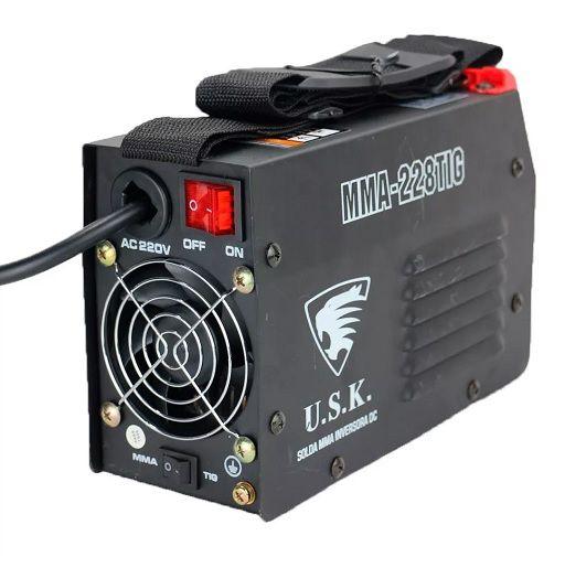 Máquina de Solda Inversora USK MMA 228 TIG com Tocha  - GENSETEC GERADORES