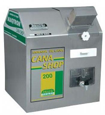 Moenda de Cana Maqtron Cana Shop 200 Rolo de Inox com Motor 110V  - GENSETEC GERADORES